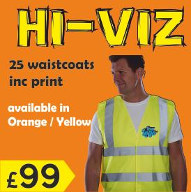 25 hiviz waistcoats for £99